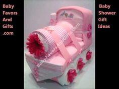 Train baby shower gift diaper cake
