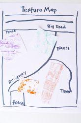 Second grade Social Studies activity: Create a Texture Map