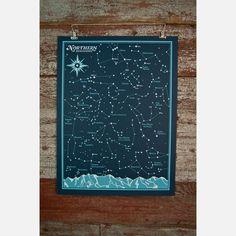 N Hemisphere Star Chart Print  by Brainstorm