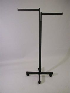 Simple T-Stand -- 2 Way Clothing Rack Black (2 Straight Arms) simpl tstand, boutiqu inspir, clothing racks, rack black, retail stores, store idea, inspir board, straight arm, cloth rack
