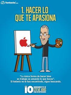 Gustavo Martínez Blog´s » Blog Archive » Infografía en español con los 10 mandamientos de Steve Jobs para emprender