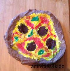 Papier Mache Pizza