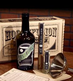 Create a little Prohibition-Era magic of your own with this complete absinthe kit. This DIY kit includes everything required to transform an ordinary bottle of alcohol (not included) into a beautiful and botanical bottle of absinthe, all using organic, natural ingredients. After a few hours, you'll have some highly herbal (and highly delicious) absinthe, which is the greatest gift of all, we'd say.