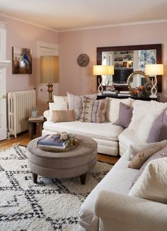 PINK WALLS - pretty room!!! Home Tour Of Stephanie Bradshaw / The Glitter Guide / Photography by Stacy Zarin-Goldberg