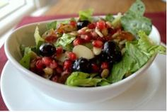 Pomegranate poppy seed salad for #RoshHashanah
