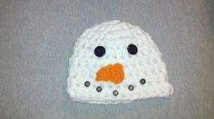 Snowman hat! Apparently I am becoming obsessed with crochet hats.