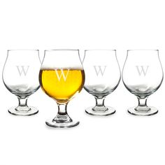 Traditional Belgian Beer Glasses (Set of 4)