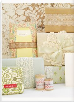 Pretty DIY gift wrapping ideas and tutorials.