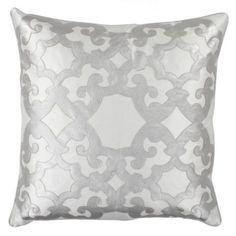 "Boulevard Pillow 24"" - Silver   Pillows   Bedding-and-pillows   Z Gallerie"