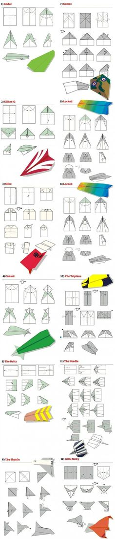 Ultimate cheat sheet for paper craft airplanes