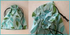 Free Lined Drawstring Bag Sewing Tutorial by Happy Things Blog