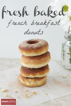 Baked French Breakfast Donuts from MomAdvice.com.