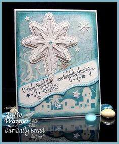 Stamps - Our Daily Bread Designs	Come Let Us Adore Him, Snowflake Stars, ODBD Christmas Paper Collection 2014, ODBD Custom Shining Star Die,ODBD Custom Splendorous Stars Dies,ODBD Custom Flourished Star Pattern Die