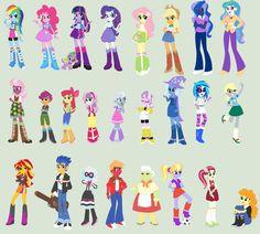 MY LITTLE PONY: Equestria Girls: Correct Colors by ClockworkPonyArtist.deviantart.com on @DeviantART