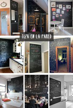 Pizarras en casa on pinterest no se chalkboards and - Pizarra decoracion pared ...