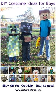 Minecraft Creatures - tons of DIY costume ideas for boys!