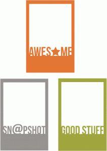 Silhouette Online Store: awesome, sn@pshot & good stuff polaroids