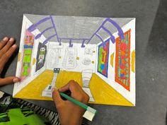 Zilker Elementary Art Class: 5th Grade Perspective Drawings