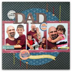 #1 Dad - Scrapbook.com - Made with Simple Stories Hey Pop Collection.