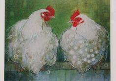 De kippen op stok