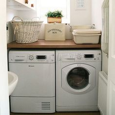 How to clean your washer/dryer: Once a month, run an empty load with hot water and bleach to sanitize the basin and wipe out any lingering germs.