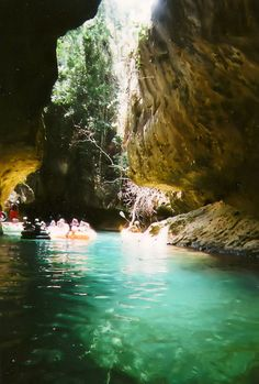 Cave tubing in Belize.