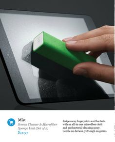Microfiber screen wipe
