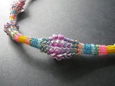 Graduated Herringbone Bobble Rope Necklace, Inspirational Beading Blog....