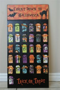 so cute. who needs a christmas countdown when you can do a halloween one?? maybe for next year i will make one!