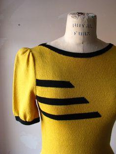 vintage sweater dress, desirapesta (etsy)
