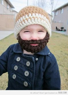 tiny crochet hat with attached crochet beard!!! and have already lost 24 pounds!