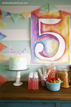 diy_birthday_ideas ... love the water color.  You can do just about anything with water color!  Living Room, Kids art for bedroom, master bedroom..