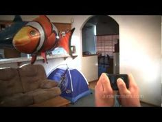Awesome radio controlled helium filled fish balloons!
