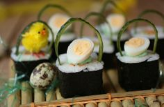 Sushi Roll Easter Baskets