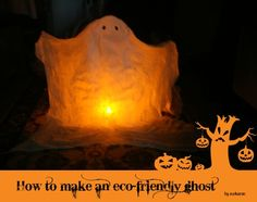 Make your own {eco}-friendly ghost for Halloween
