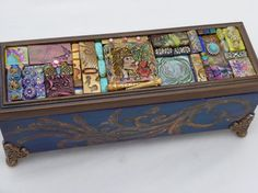 """Box with Polymer Clay Tiles-""""A Fire in My Heart"""""""