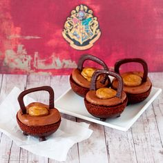 Cauldron Cakes - Maybe we'll have a Harry Potter Halloween party this year...