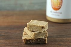 Almond Butter Fudge will tame your sweet tooth without the guilt! #almondbutter #fudge #recipe