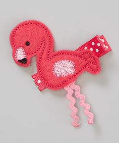 Look at this Pink Flamingo Clip on #zulily today!