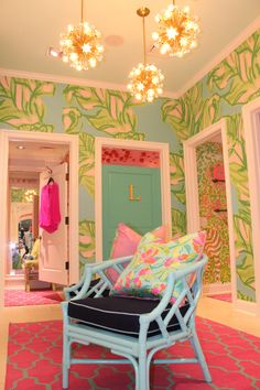 Dressing Rooms at Lilly Pulitzer Westchester... Maybe this could become my dressing room in my dream house closet...