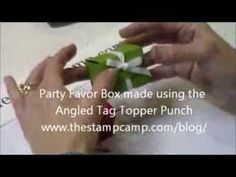 Angled Tag Topper Punch Party Favor Box - www.thestampcamp.com/blog/