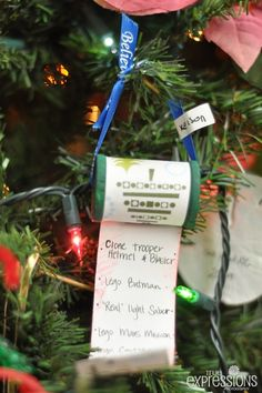 Make one handmade ornament every year for amazing tradition.  I love this Christmas Wish List. Great memories over the years.
