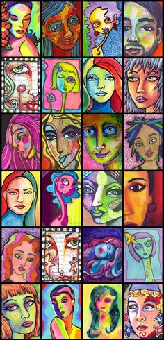 Colourful, Funky Portraits 2