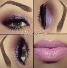 Lilac makeup for green/hazel eyes