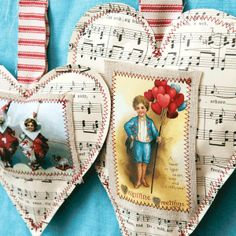 Vintage Valentine Ornaments Project