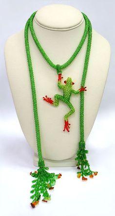 bead frog, bead weav, bead pattern, artworks, bead artwork, beadwork, frog necklac, beads, blog