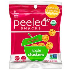 Perfect pre-workout snacks: Peeled Snacks Apple Clusters -  fits in a full serving of fruit!