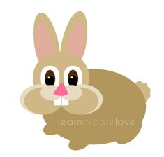{ Printable Bunny Rabbit Craft } http://learncreatelove.com/?p=7499