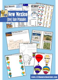 FREE New Mexico Printable Pack for learning fun for kids 2-8 years old