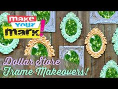 How to: Dollar Store Frame Makeovers - YouTube
